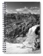 Waterfall Black And White Spiral Notebook