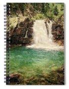 Waterfall Dreaming Spiral Notebook