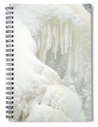 Waterfall Ice Formation Spiral Notebook