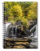 Waterfall In Autumn Spiral Notebook