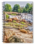 Waterfall In Contrast Spiral Notebook