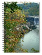 Waterfall In Forest, Cumberland Falls Spiral Notebook