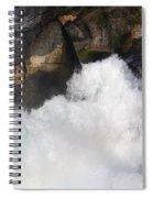 Waterfall In Neuhausen Near Schaffhausen Spiral Notebook
