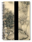 Waterfall In Spring And Autumn Spiral Notebook