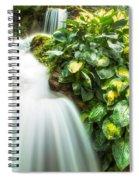 Waterfall In The Hosta Spiral Notebook