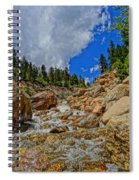 Waterfall In The Rockies Spiral Notebook