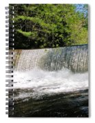 Waterfall In Woodstock Vermont Spiral Notebook
