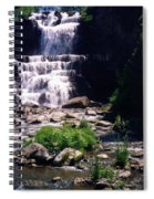 Waterfall Into The Stream Spiral Notebook