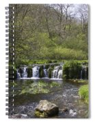 Waterfall Lathkill Dale Derbyshire Spiral Notebook
