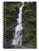 Waterfall Near Valdez Ak Spiral Notebook