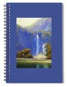 Waterfall New Zealand Spiral Notebook