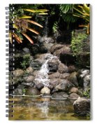 Waterfall On The Rocks Spiral Notebook