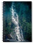 Waterfall Princess Louisa Inlet Spiral Notebook