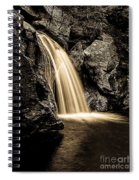 Waterfall Stowe Vermont Sepia Tone Spiral Notebook