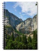 Waterfall, Yosemite Valley, Yosemite Spiral Notebook