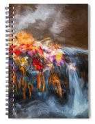Waterfalls Childs National Park Painted  Spiral Notebook