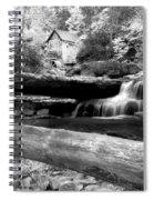 Waterfalls Mill Black N White Spiral Notebook