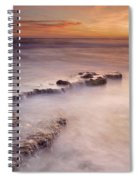 Waterfalls On The Rocks Spiral Notebook