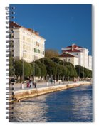 Waterfront Promenade In Zadar Spiral Notebook