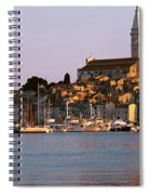 Waterfront, Rovinj, Croatia Spiral Notebook