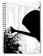 Watering Time Shadow Spiral Notebook