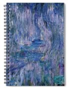 Waterlilies And Reflections Of A Willow Tree Spiral Notebook
