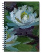 Waterlilies At Martha Lake 2 Spiral Notebook