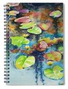 Waterlilies In Shadow Spiral Notebook