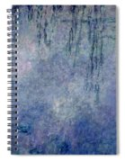 Waterlilies Two Weeping Willows Spiral Notebook