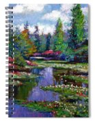 Waterlily Lake Reflections Spiral Notebook