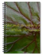 Waterlily Leaf Macro Spiral Notebook