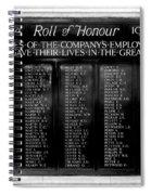 Waterloo Roll Of Honor 1914 1918 Spiral Notebook