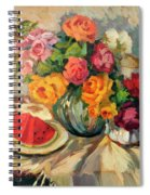 Watermelon And Roses Spiral Notebook