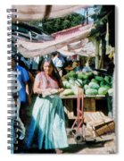 Watermelons At The Market Spiral Notebook