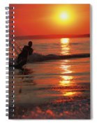 Waterskiing At Sunset Spiral Notebook