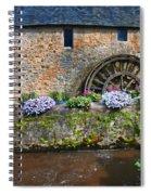 Waterwheel In Brittany Spiral Notebook