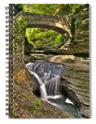 Watkins Glen Waterfalls Spiral Notebook