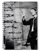 Watson And Crick With Dna Model Spiral Notebook