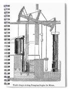 Watts Steam Engine, 1769 Spiral Notebook