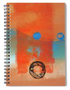 Wave Abstract Spiral Notebook