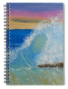Wave At Sunrise Spiral Notebook