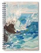 Wave At Sunset Beach Spiral Notebook
