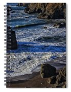 Wave Breaking On Rock Spiral Notebook
