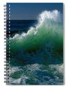 Wave Crashing On Pacific Coast, Oregon Spiral Notebook