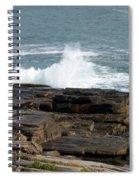 Wave Hitting Rock Spiral Notebook