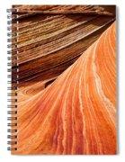Wave Lines Spiral Notebook