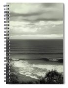 Wave Watching In Black And White - Kauai - Hawaii Spiral Notebook