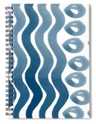 Waves And Pebbles- Abstract Watercolor In Indigo And White Spiral Notebook