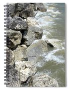 Waves And Rocks 6 Spiral Notebook