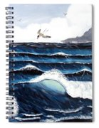 Waves And Tern Spiral Notebook